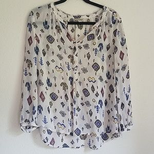 Lucky Brand Large Peasant Top